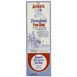 Disneyland's Angels Baseball Fun Day Ticket.