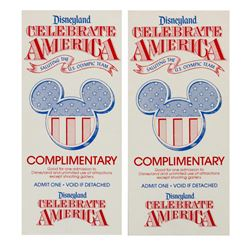 "Pair of ""Celebrate America"" Passport Print Tests."