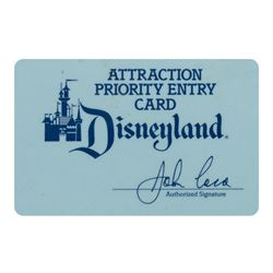 Disneyland Attraction Priority Entry Card.