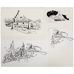 Collection of Magic Kingdom Club Editor's Art Sheets.
