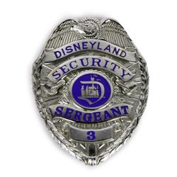 Disneyland Security Sergeant Badge.