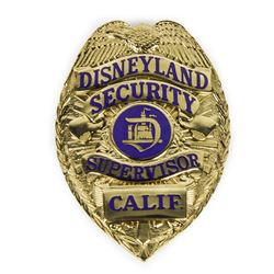 Disneyland Security Supervisor Badge.