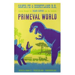 Original  Primeval World  Attraction Poster.