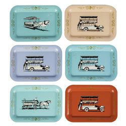 Collection of (6) Main Street Vehicle Tip Trays.