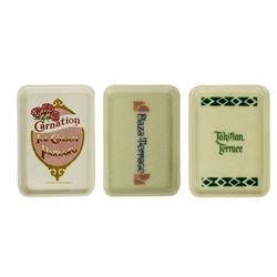 Set of (3) Disneyland Restaurant Tip Trays.
