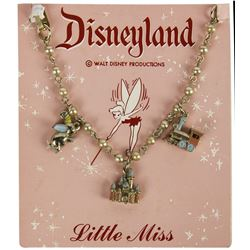 "Disneyland ""Little Miss"" 3-Charm Bracelet."