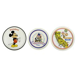 Set of (3) Disneyland Plates.