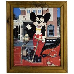 Main Street Mickey Mouse Photo in Wooden Frame.