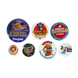 Collection of (7) Disneyland Event Buttons.
