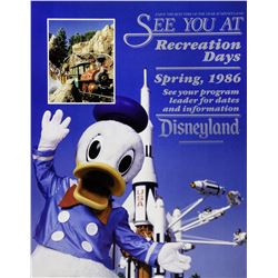 "Disneyland ""Recreation Days"" Poster."