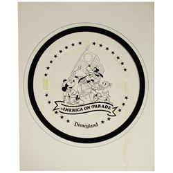 "Original ""America on Parade"" Collectible Plate Logo Design."