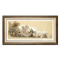 "Signed Limited Edition ""Jungle Cruise"" Concept Art."