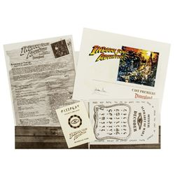 Indiana Jones Adventure Cast Premiere Packet.