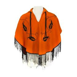 Mexican Village Wool Poncho.