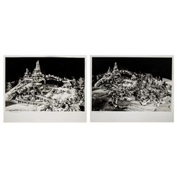 """Pair of """"Big Thunder Mountain"""" Attraction Model Photos."""