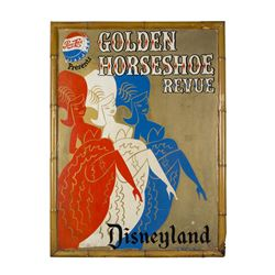 """Park-Used """"Golden Horseshoe"""" Attraction Poster."""