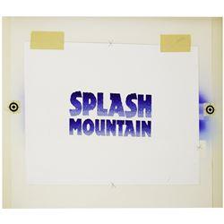 "Original ""Splash Mountain"" Promotional Title Artwork."