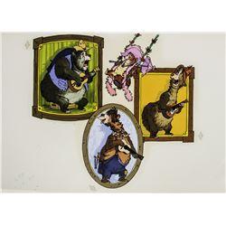 "Original Promotional Artwork for ""Country Bear Jamboree""."