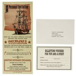 """""""Pirates of the Caribbean"""" Special Voyage Invitation."""