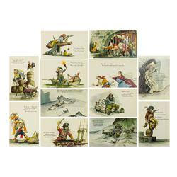 "Walt Disney World ""Pirates of the Caribbean"" Postcards."