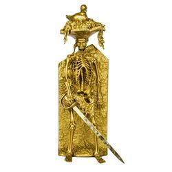 Limited Edition Gold Bird Head Skeleton Pirate Figure.