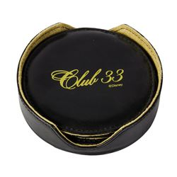 Club 33 Leather Coaster Set.
