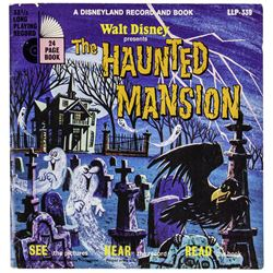 "Signed ""Haunted Mansion"" Souvenir Record."