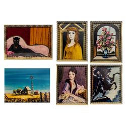 "Set of (6) ""Haunted Mansion"" 30th Lenticular Cards."