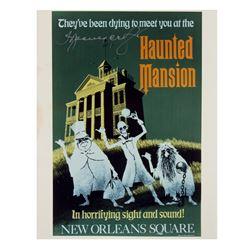 "Thurl Ravenscroft Signed ""Haunted Mansion"" Poster Print."