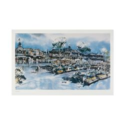 Herb Ryman New Orleans Square Concept Lithograph.