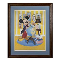 Mickey Mouse 60th Birthday Signed Lithograph.