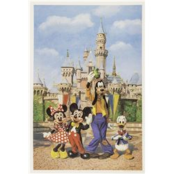 Disneyland Castle Charles Boyer Signed Artist's Proof.