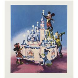 Disneyland 30th Anniversary Charles Boyer Lithograph.