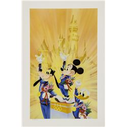 A Golden Dream at Disneyland Charles Boyer Print.