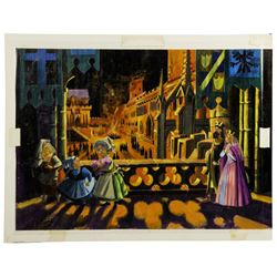 Sleeping Beauty Castle Walkthrough Window Display Concept Painting - Scene 3.