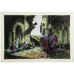 Sleeping Beauty Castle Walkthrough Window Display Concept Painting - Scene 6.
