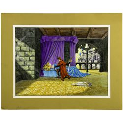 Sleeping Beauty Castle Walkthrough Window Display Concept Painting - Scene 9.
