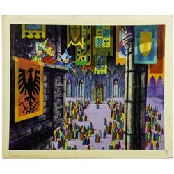 Sleeping Beauty Castle Walkthrough Window Display Concept Painting - Scene 10.