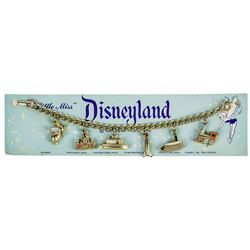 "Disneyland ""Little Miss"" 6-Charm Bracelet."