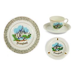 Sleeping Beauty Castle Matching Ceramics Set.