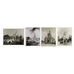 Set of (4) Disney Castle Publicity Photos.