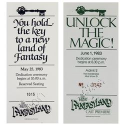 New Fantasyland Dedication & Cast Premiere Tickets.