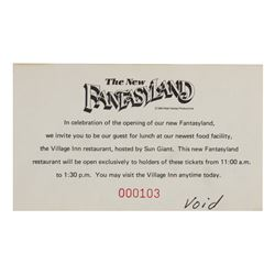 The New Fantasyland Meal Voucher.