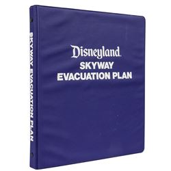 Skyway Evacuation Plan Disneyland Binder.
