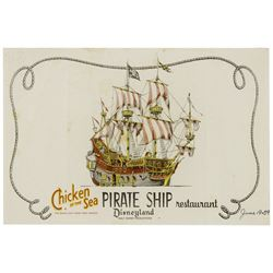 Pirate Ship Restaurant Placemat.