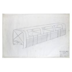 "Original ""Viewliner"" Blueprint Artwork by Bob Gurr."