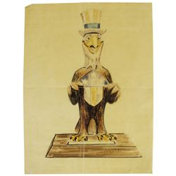 "Original ""America Sings"" Press Preview Maquette Concept."