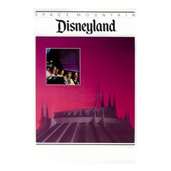 Space Mountain Souvenir Poster.