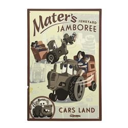 Mater's Junkyard Jamboree Park Used Attraction Poster.