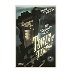 Twilight Zone Tower of Terror Attraction Poster.